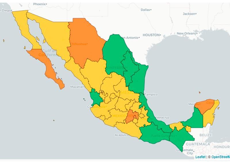 Semáforo epidemiológico en México